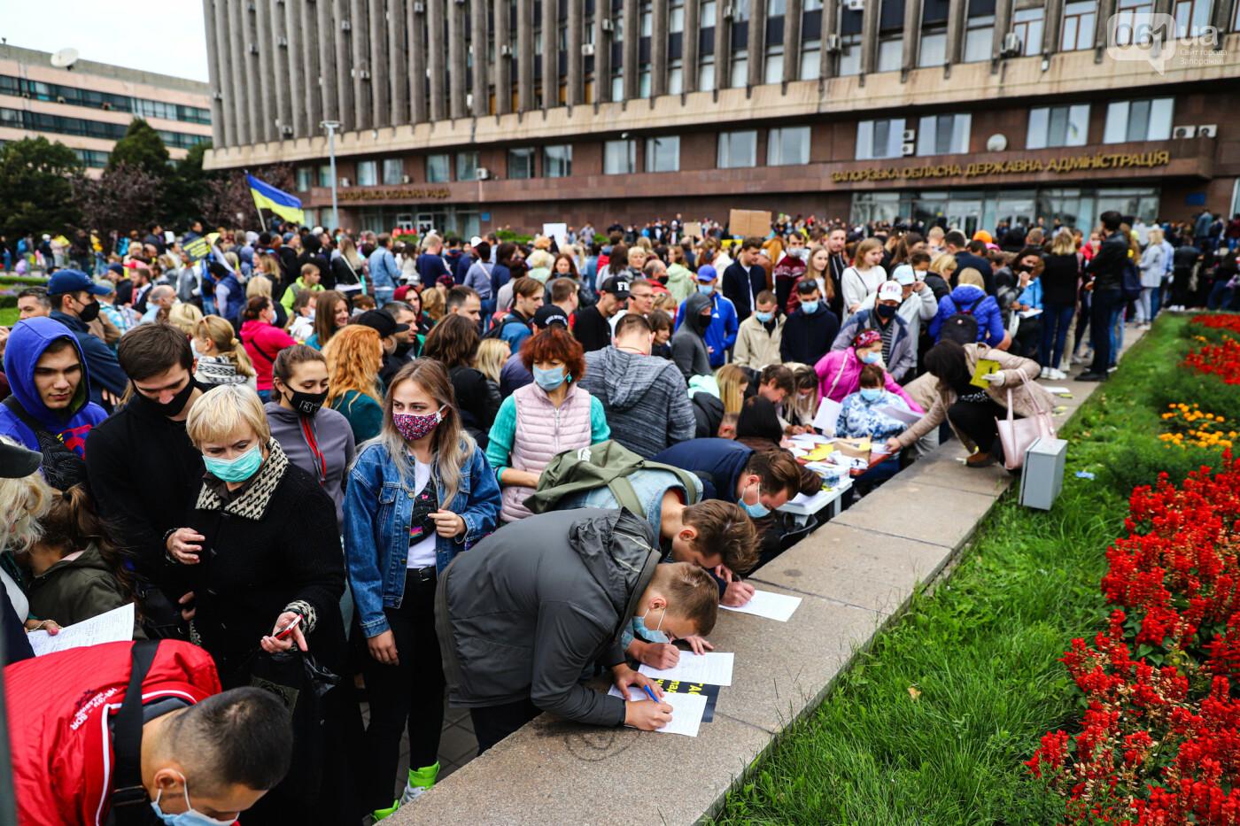 Маю право дихати: тысячи запорожцев вышли на экологический митинг, ФОТО, ВИДЕО, фото-14