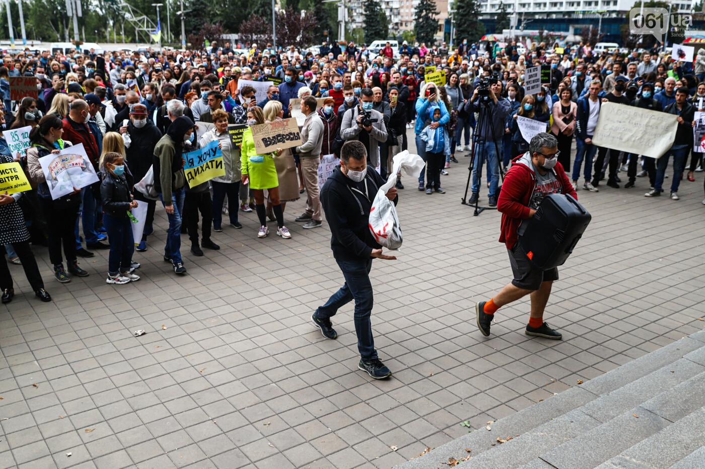 Маю право дихати: тысячи запорожцев вышли на экологический митинг, ФОТО, ВИДЕО, фото-49