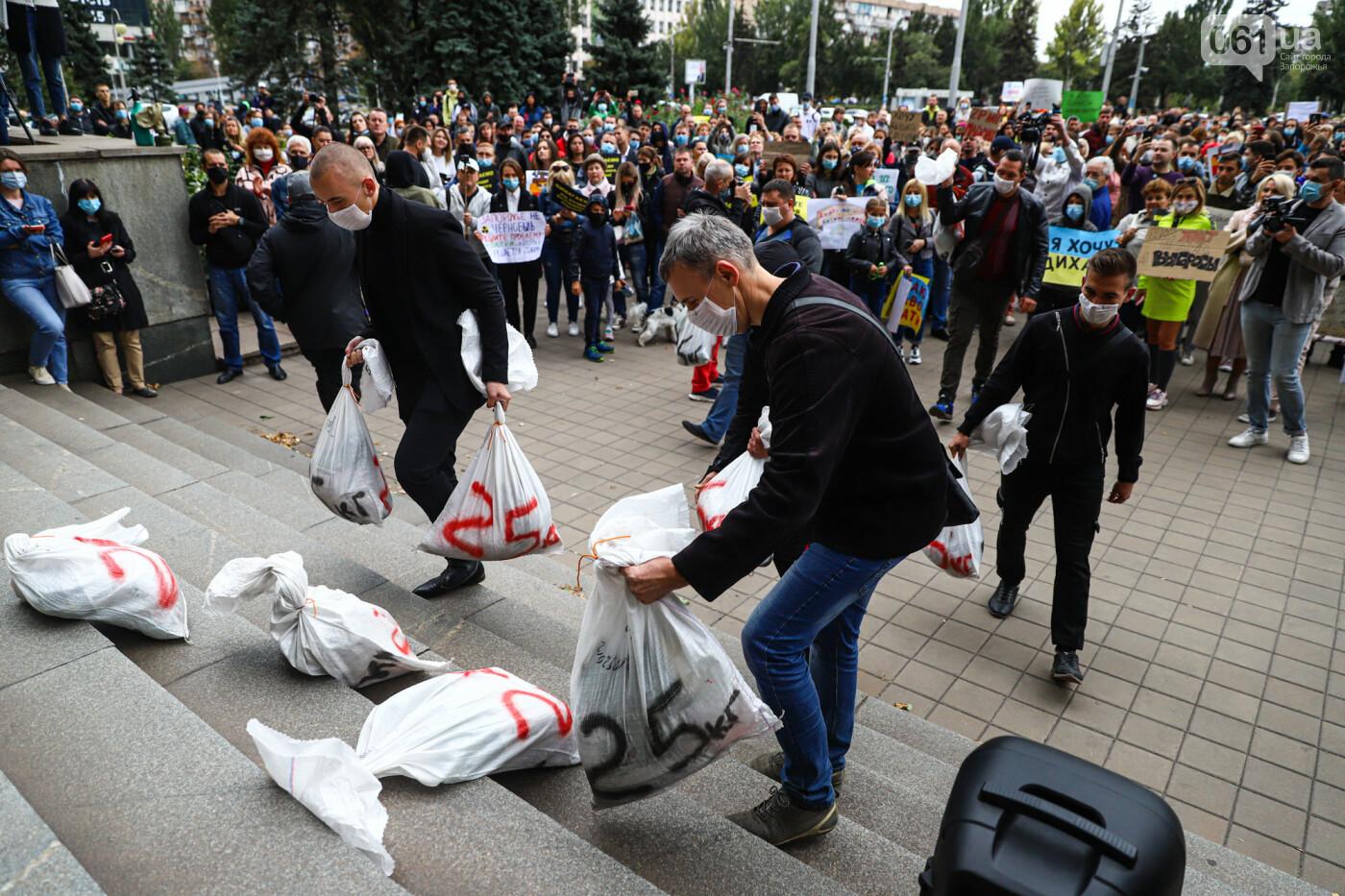 Маю право дихати: тысячи запорожцев вышли на экологический митинг, ФОТО, ВИДЕО, фото-51