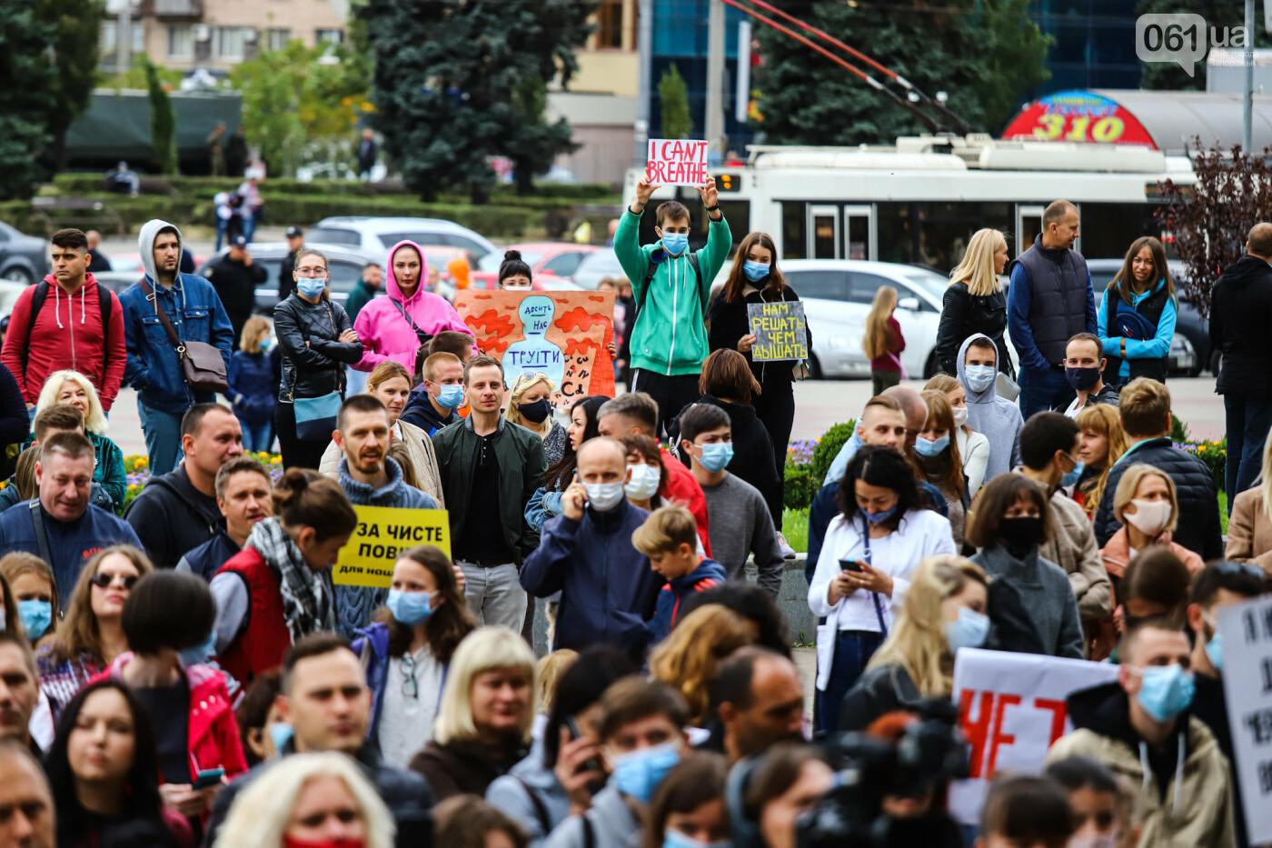 Маю право дихати: тысячи запорожцев вышли на экологический митинг, ФОТО, ВИДЕО, фото-55