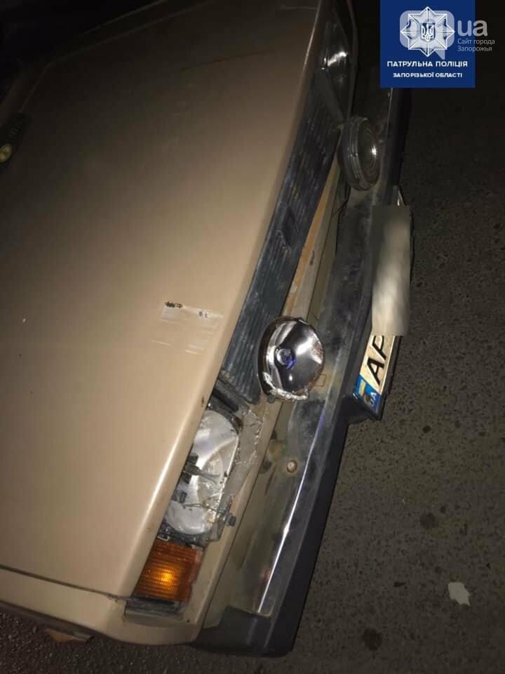В Запорожье пьяный водитель попал в ДТП и попытался скрыться от полиции, фото-1