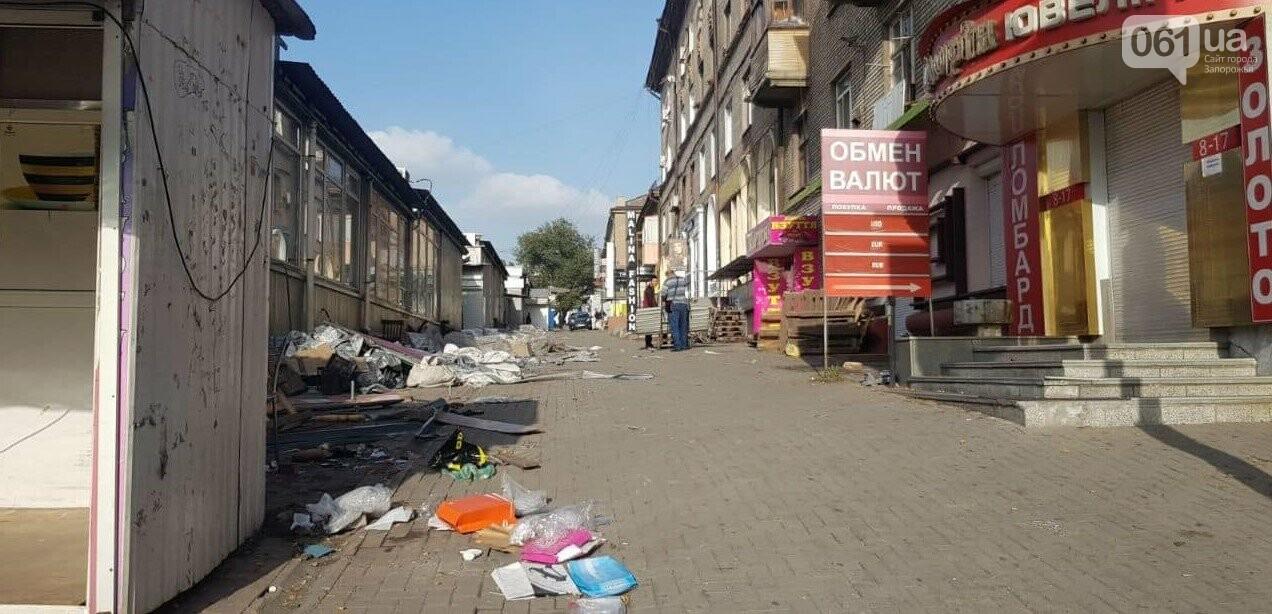 В Запорожье на Центральном рынке демонтировали 20 незаконных павильонов, - ФОТО , фото-2