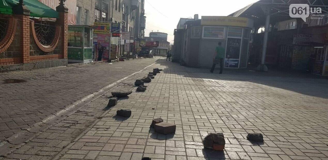 В Запорожье на Центральном рынке демонтировали 20 незаконных павильонов, - ФОТО , фото-3