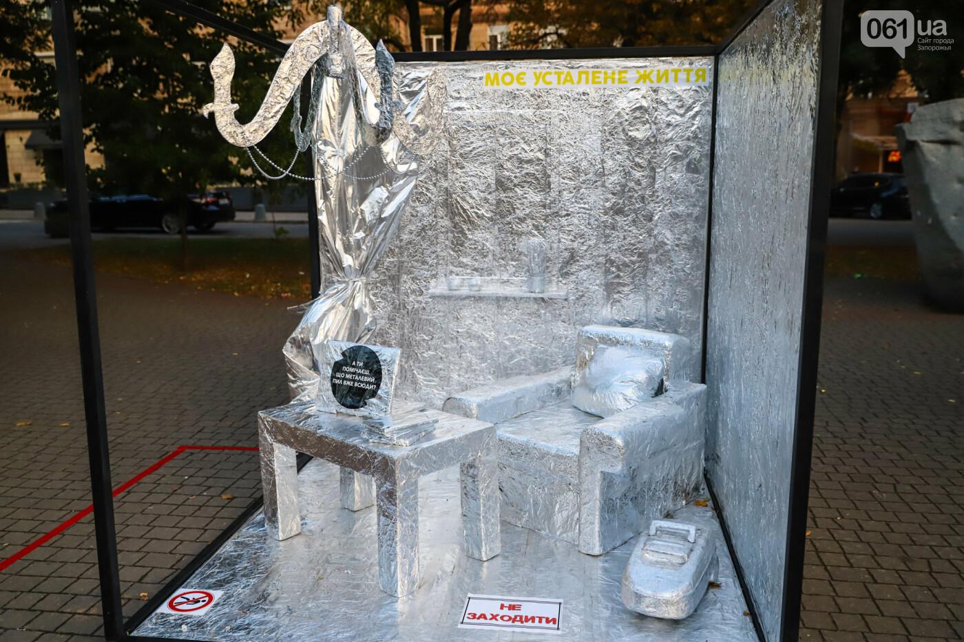 Огромная стиральная машина и комната из фольги: в центре Запорожья открылась эко-выставка, - ФОТОРЕПОРТАЖ , фото-7