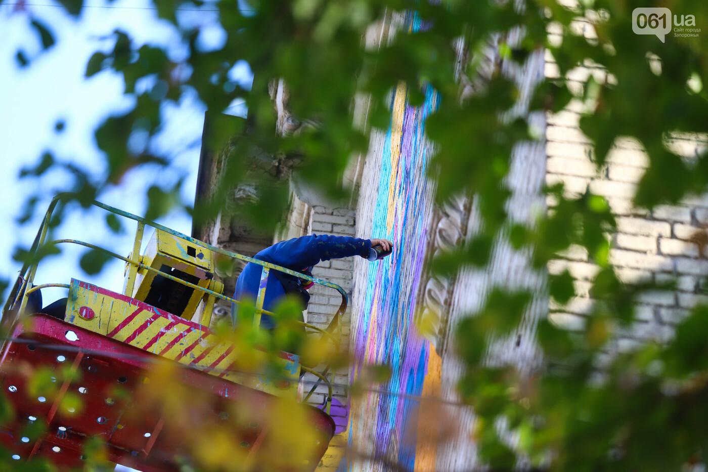 Художник из Нью-Йорка нарисовал мурал к 250-летию Запорожья - ФОТОРЕПОРТАЖ , фото-13