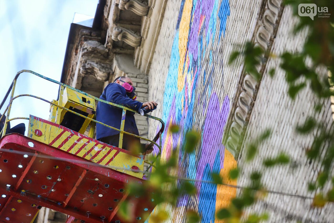 Художник из Нью-Йорка нарисовал мурал к 250-летию Запорожья - ФОТОРЕПОРТАЖ , фото-12