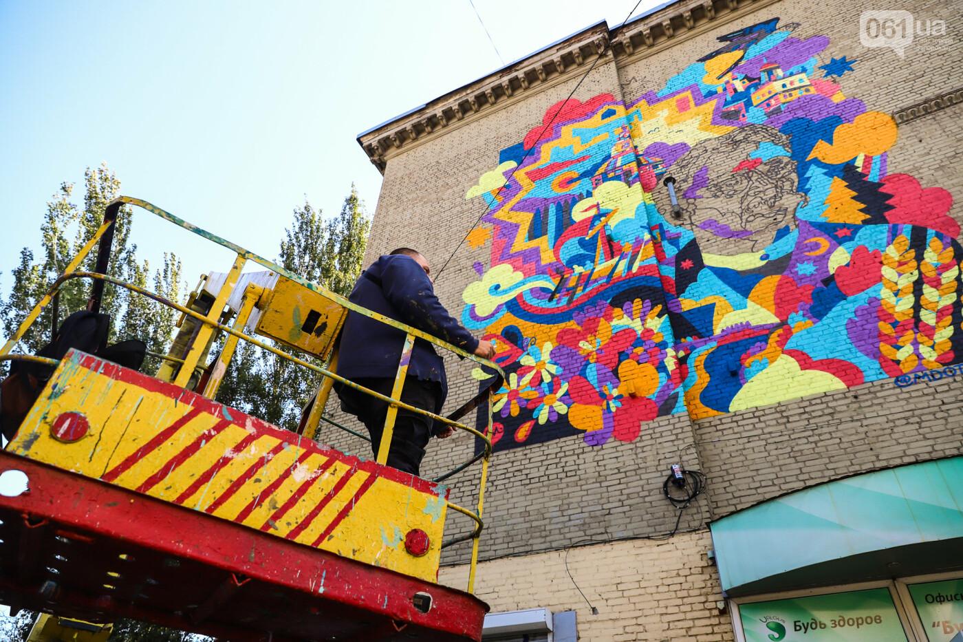 Художник из Нью-Йорка нарисовал мурал к 250-летию Запорожья - ФОТОРЕПОРТАЖ , фото-11