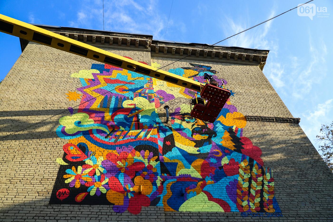 Художник из Нью-Йорка нарисовал мурал к 250-летию Запорожья - ФОТОРЕПОРТАЖ , фото-24