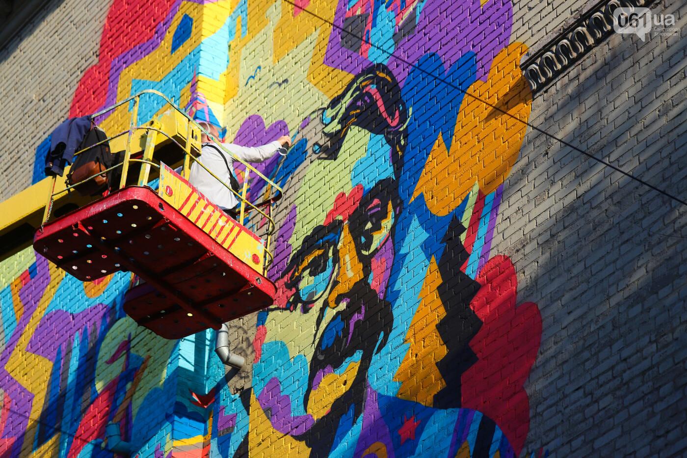 Художник из Нью-Йорка нарисовал мурал к 250-летию Запорожья - ФОТОРЕПОРТАЖ , фото-26