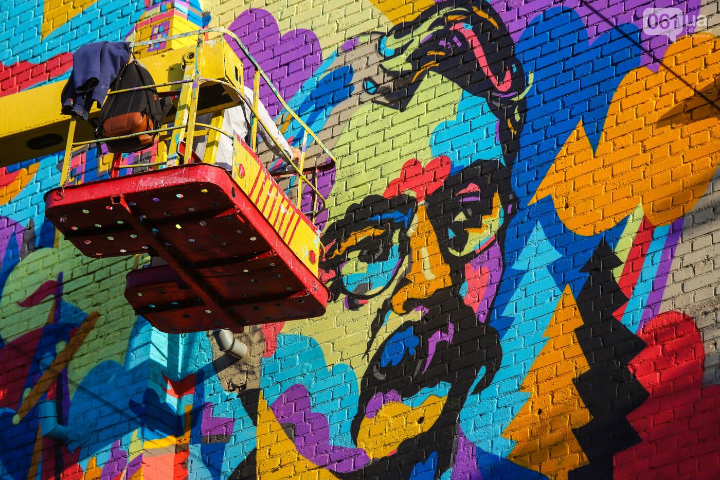 Художник из Нью-Йорка нарисовал мурал к 250-летию Запорожья - ФОТОРЕПОРТАЖ , фото-28