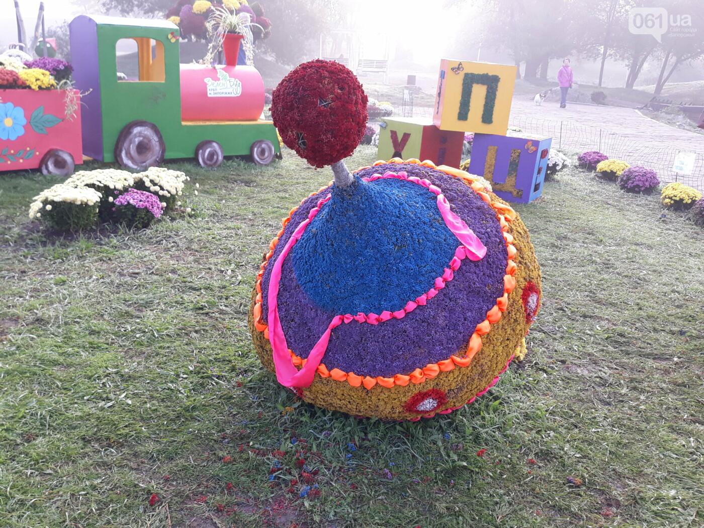 20201015083444 scaled 5f8814a1b9c22 - Запорожцы повредили цветочные композиции в Вознесеновском парке, - ФОТО