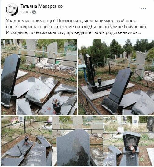 screenshot8 5fa11f6927c53 - В полиции разыскивают вандалов, которые разбили 14 памятников на кладбище в Приморске