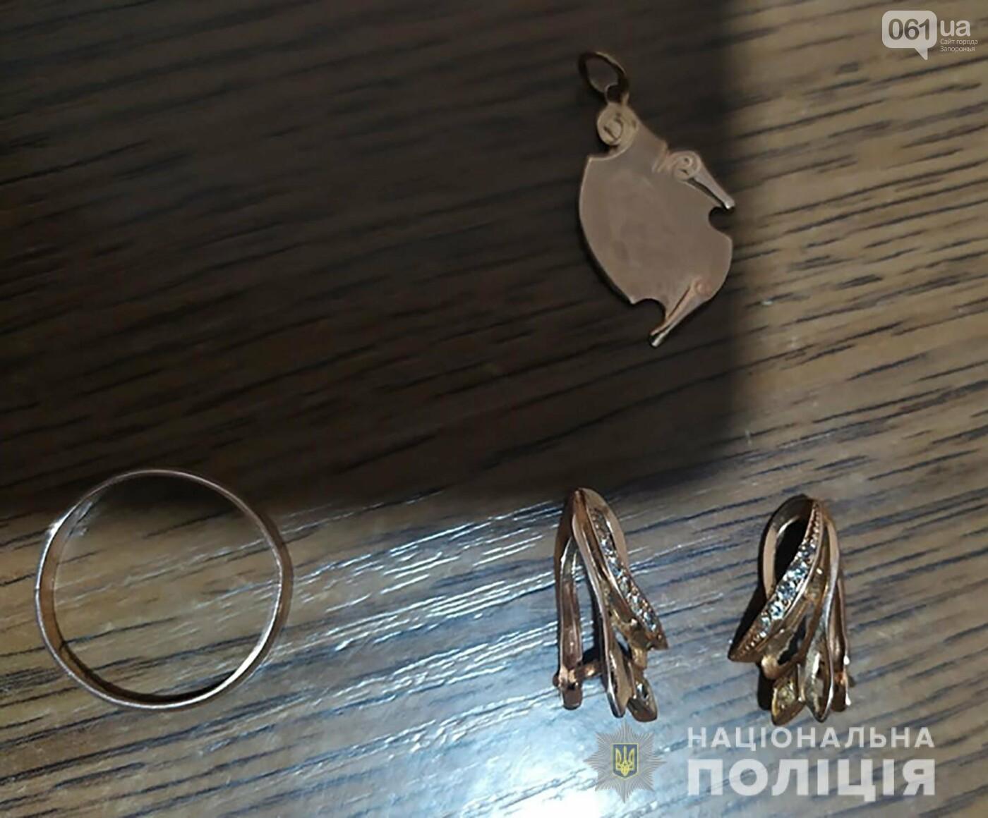 В Запорожской области задержали пару по подозрению в совершению квартирных краж, фото-2