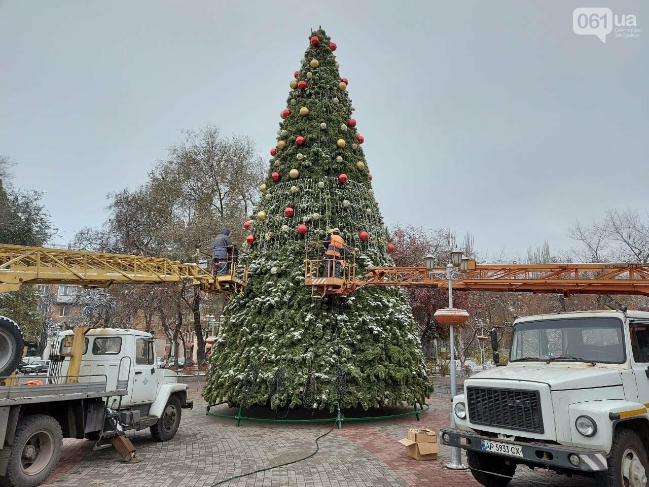 Новые игрушки для елки и обустройство новогоднего городка в центре Запорожья обойдется бюджету в 284 тысячи гривен, - ФОТОРЕПОРТАЖ , фото-9