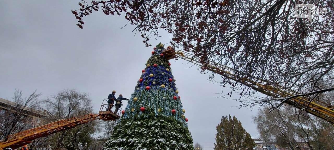 Новые игрушки для елки и обустройство новогоднего городка в центре Запорожья обойдется бюджету в 284 тысячи гривен, - ФОТОРЕПОРТАЖ , фото-7
