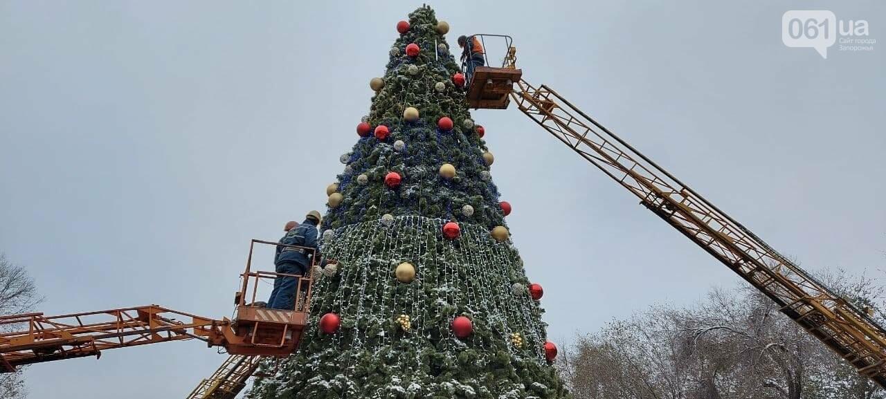 Новые игрушки для елки и обустройство новогоднего городка в центре Запорожья обойдется бюджету в 284 тысячи гривен, - ФОТОРЕПОРТАЖ , фото-14