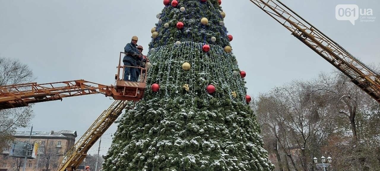 Новые игрушки для елки и обустройство новогоднего городка в центре Запорожья обойдется бюджету в 284 тысячи гривен, - ФОТОРЕПОРТАЖ , фото-13