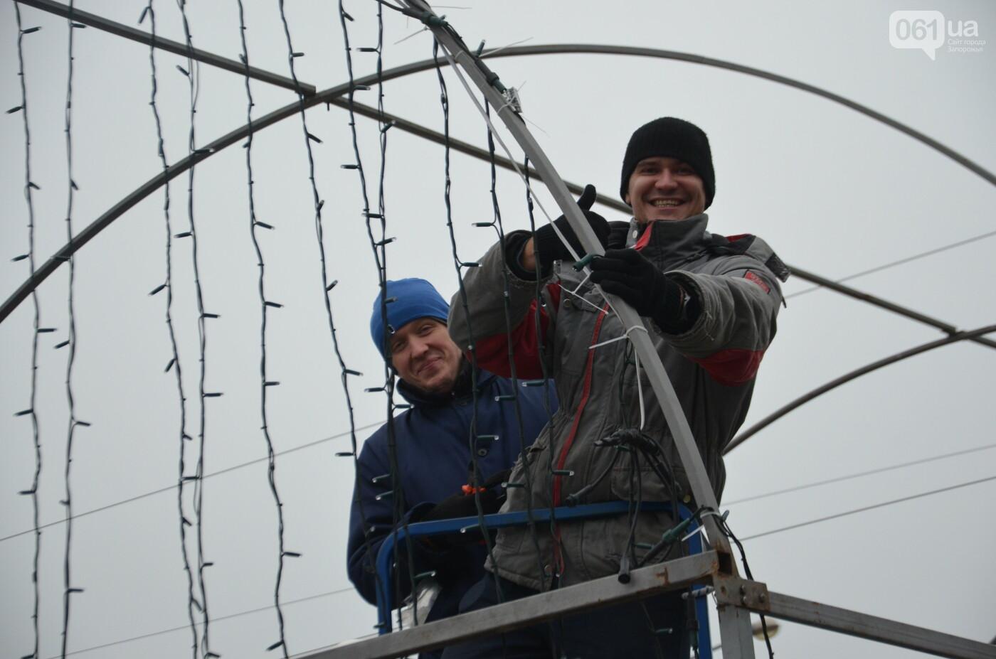 В Запорожье на бульваре Шевченко начали монтировать новогодний городок на БШ за 1,8 миллиона гривен, фото-13