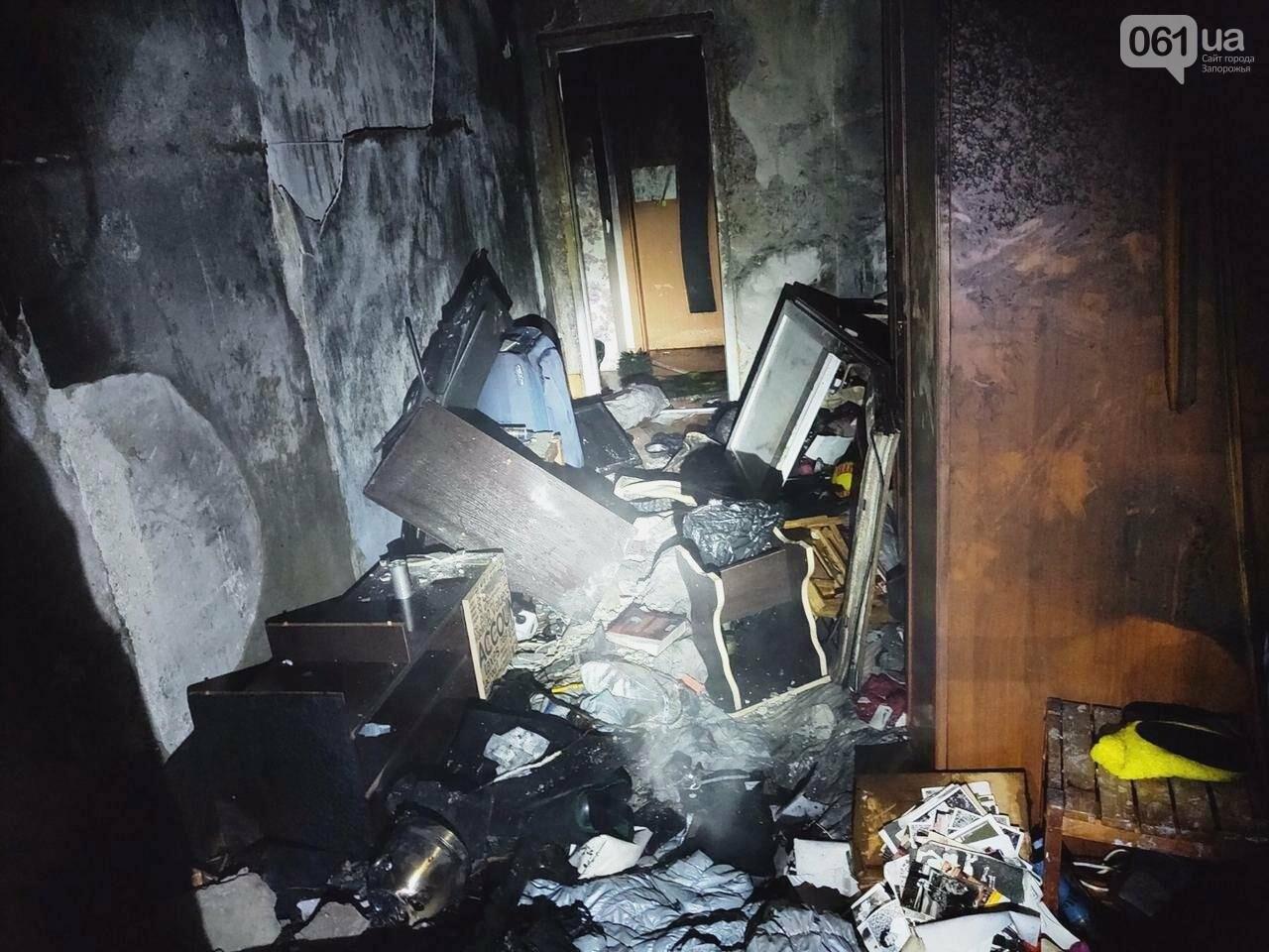 В Запорожье 8 спасателей тушили пожар в многоэтажке, фото-1