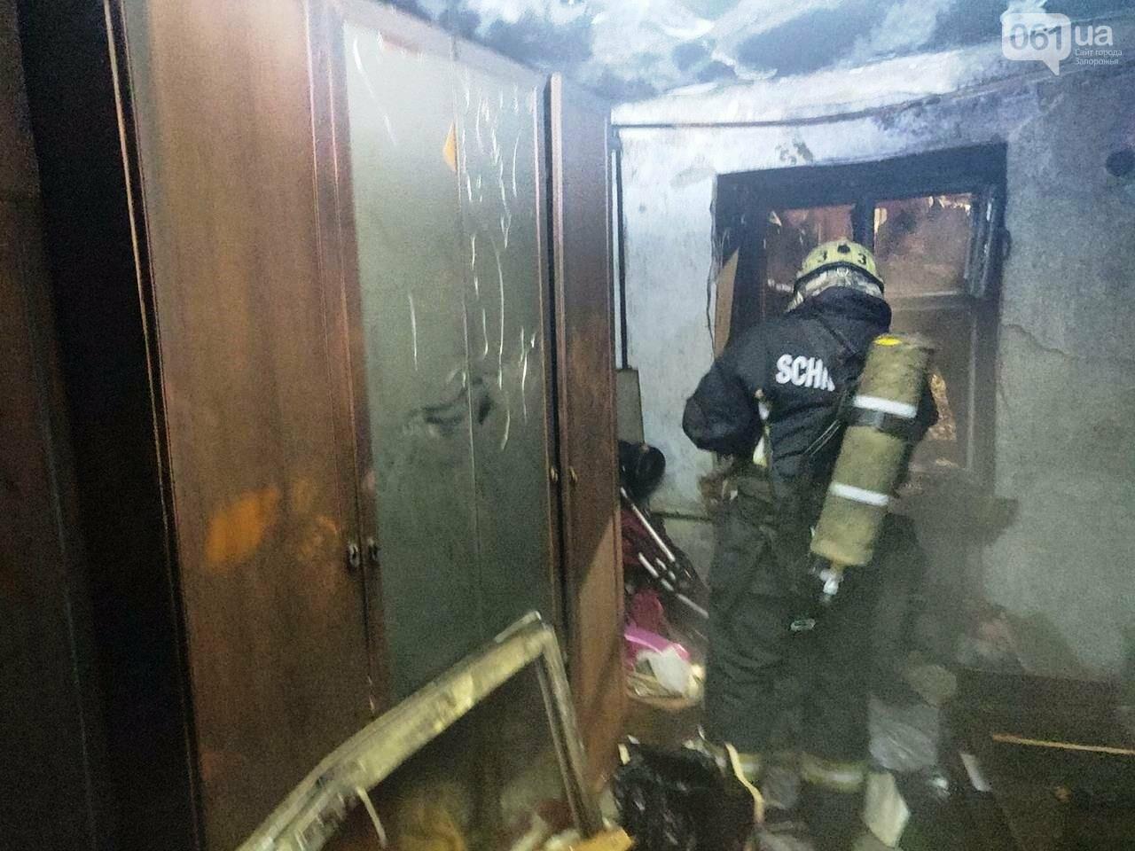 В Запорожье 8 спасателей тушили пожар в многоэтажке, фото-3