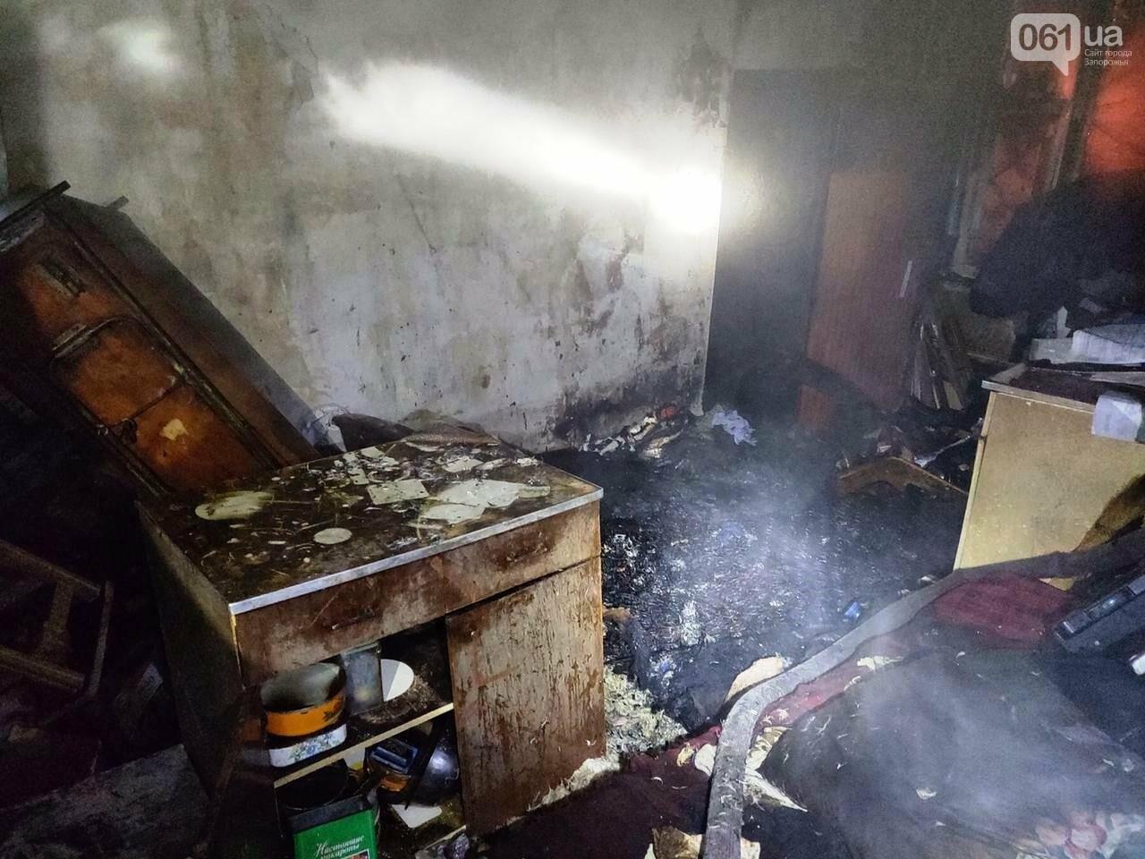В Запорожье в многоэтажном доме произошел пожар: погиб мужчина, фото-1
