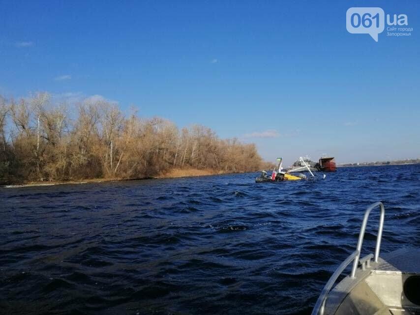 На затонувшей под Запорожьем барже было 1000 т щебня: экоинспекция отобрала пробы воды, - ФОТО, фото-2