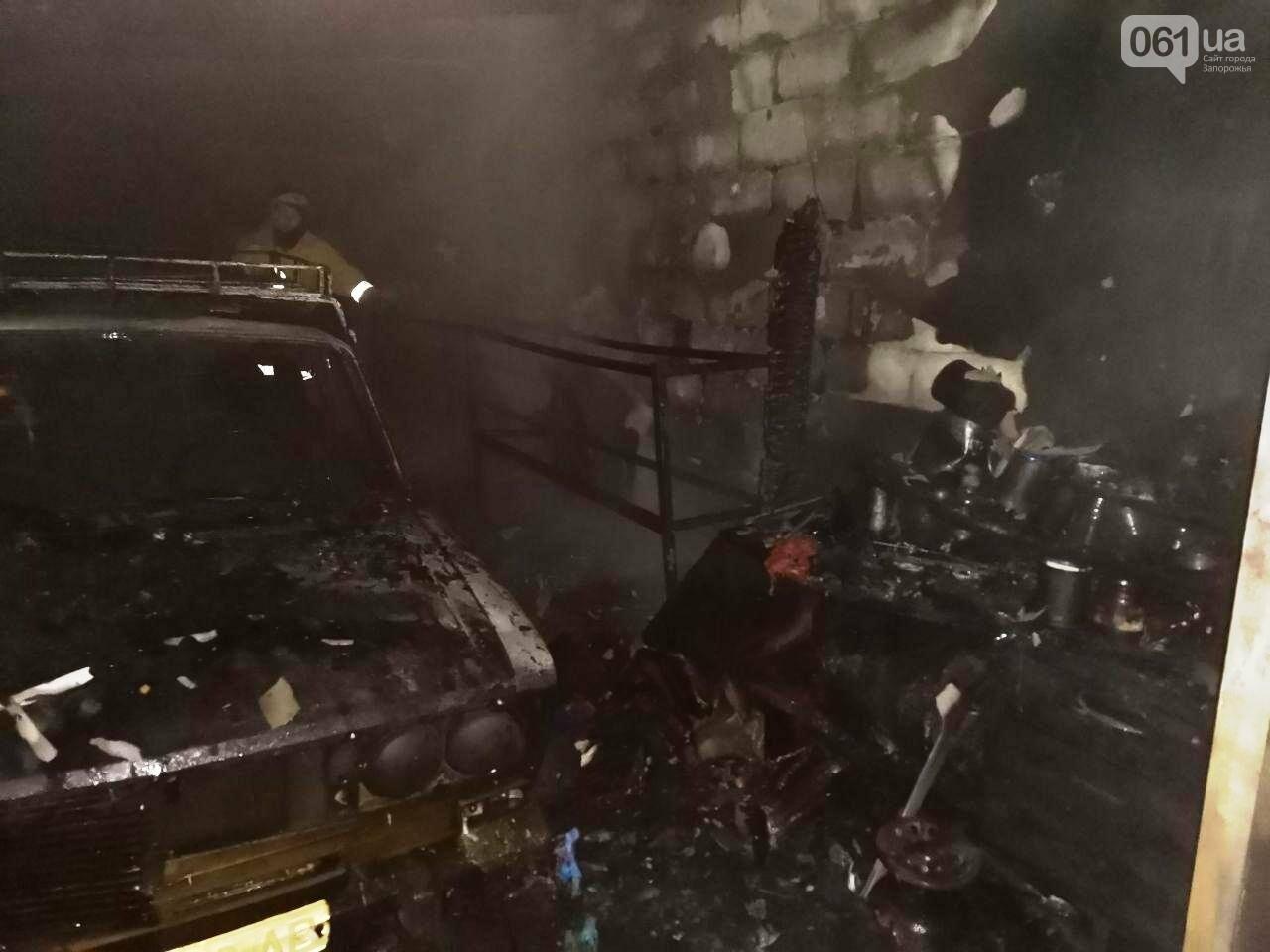 В Мелитополе 5 огнеборцев тушили загоревшийся автомобиль, фото-1
