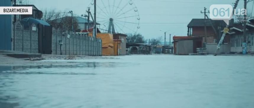 В сети показали, как выглядит затопленная Кирилловка с высоты птичьего полета, - ВИДЕО, фото-1