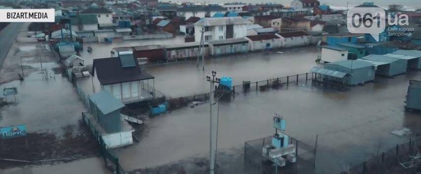 В сети показали, как выглядит затопленная Кирилловка с высоты птичьего полета, - ВИДЕО, фото-2