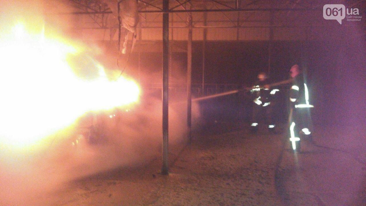 В Мелитополе огнем охватило автомобиль и навес в жилом доме, фото-1