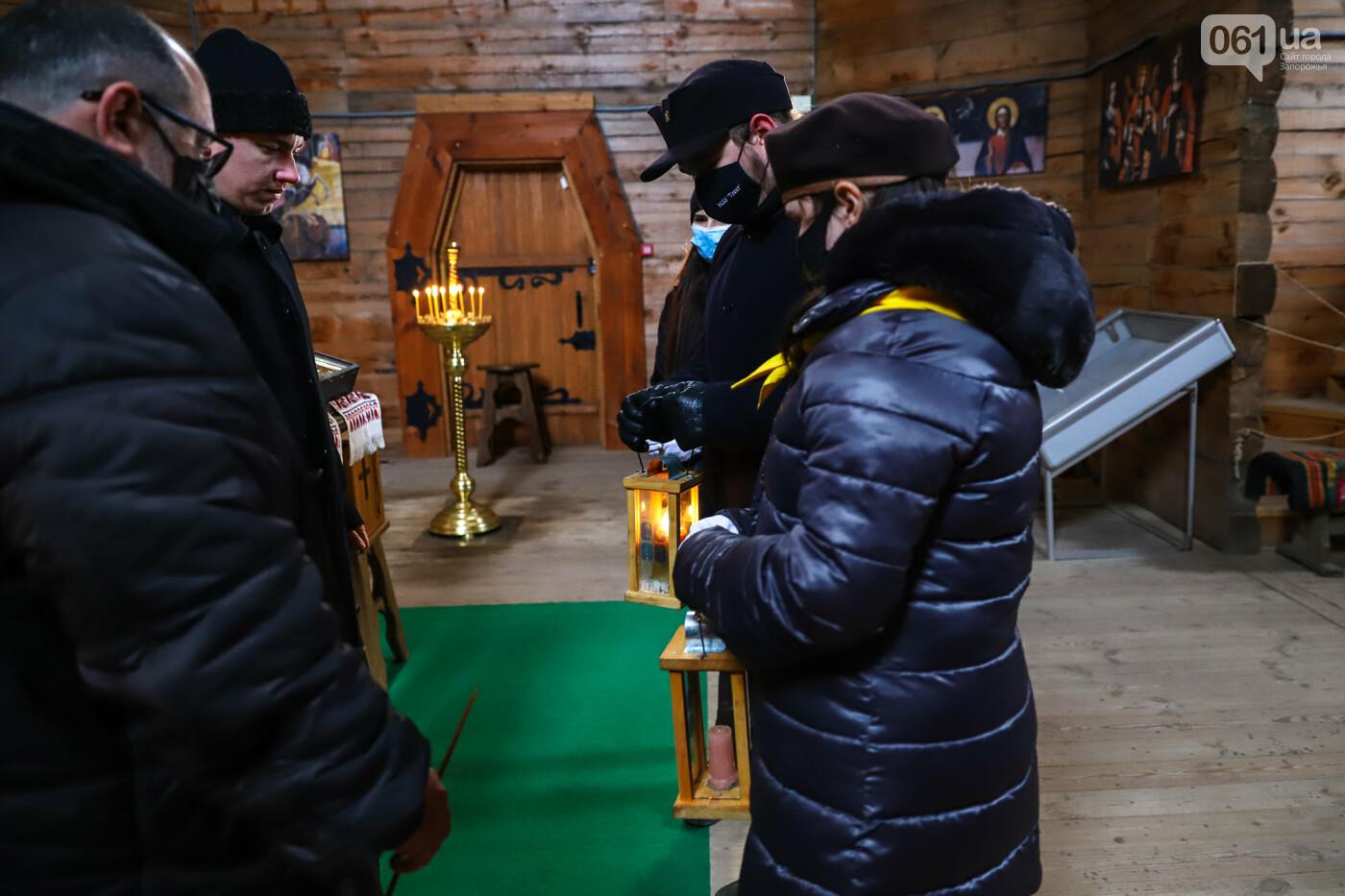 На Хортице скауты передали священникам Вифлеемский огонь, - ФОТОРЕПОРТАЖ, фото-11