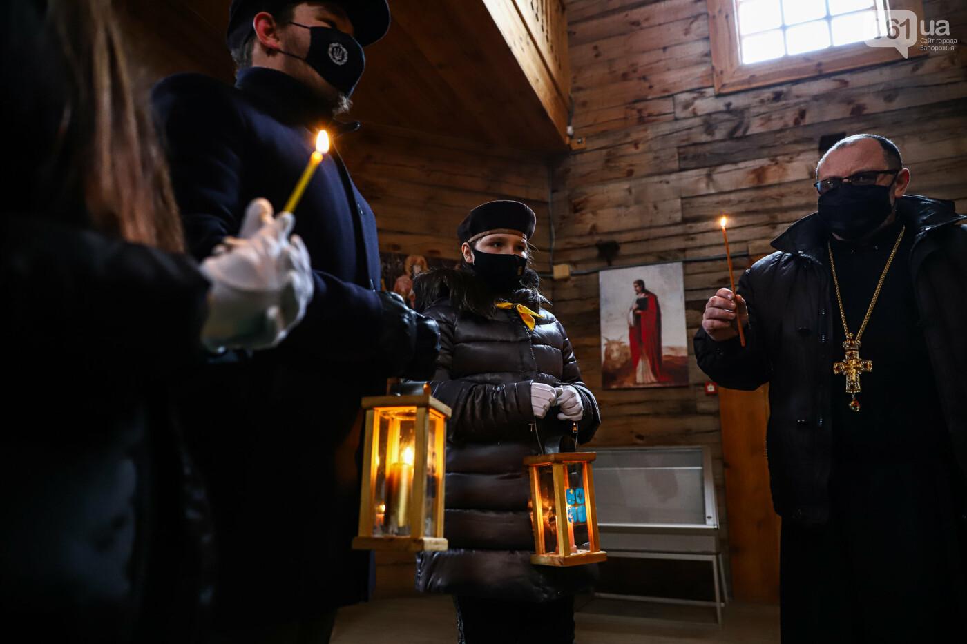 На Хортице скауты передали священникам Вифлеемский огонь, - ФОТОРЕПОРТАЖ, фото-15