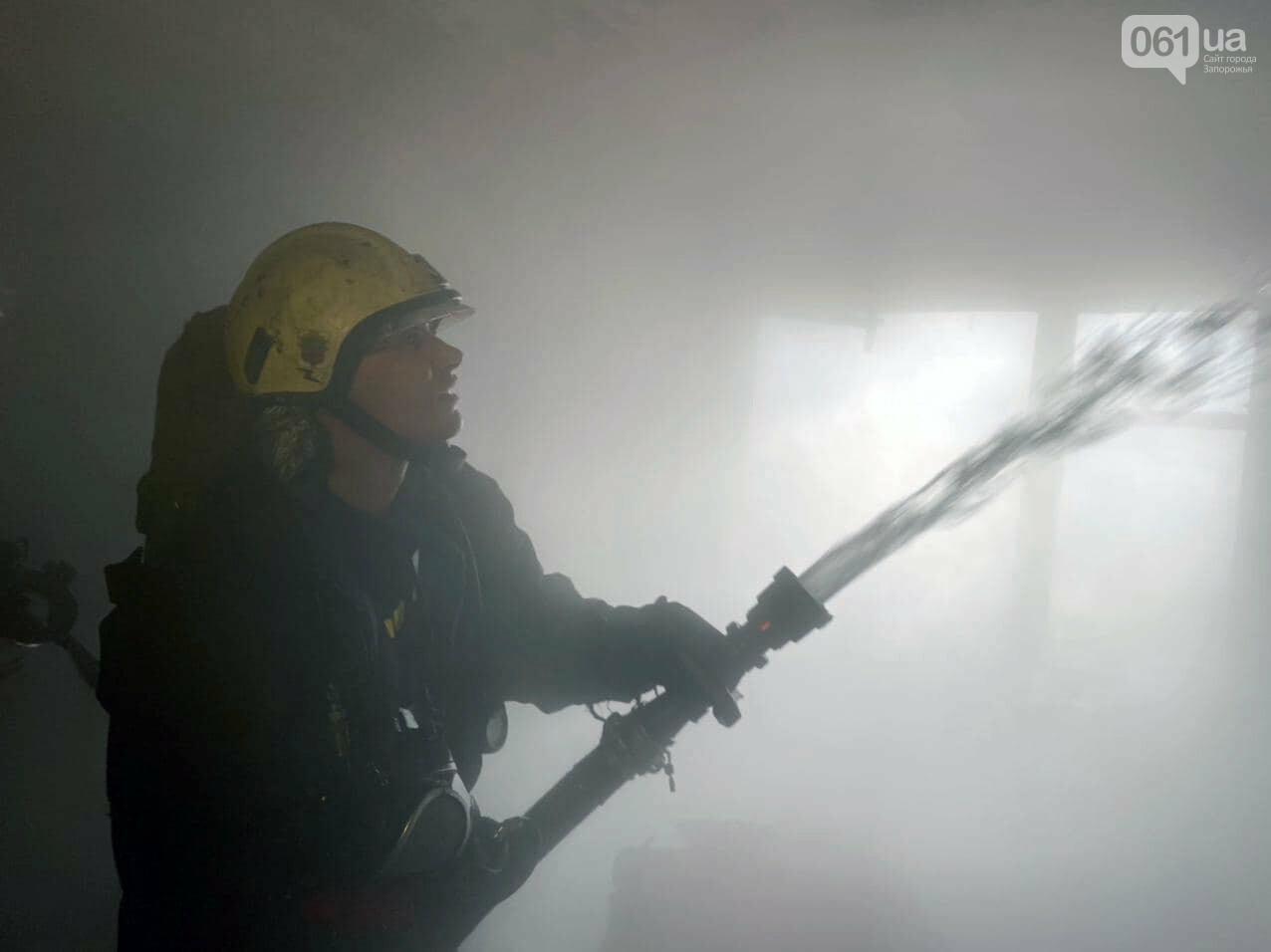 Пожар в запорожской девятиэтажке тушили 6 единиц техники и 22 спасателя, - ФОТО , фото-4