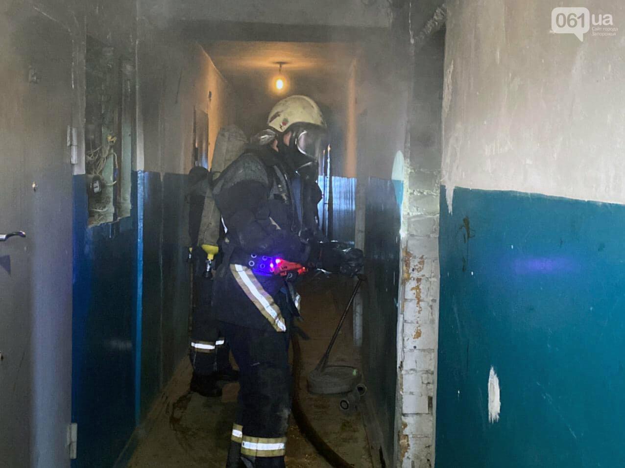 Пожар в запорожской девятиэтажке тушили 6 единиц техники и 22 спасателя, - ФОТО , фото-3