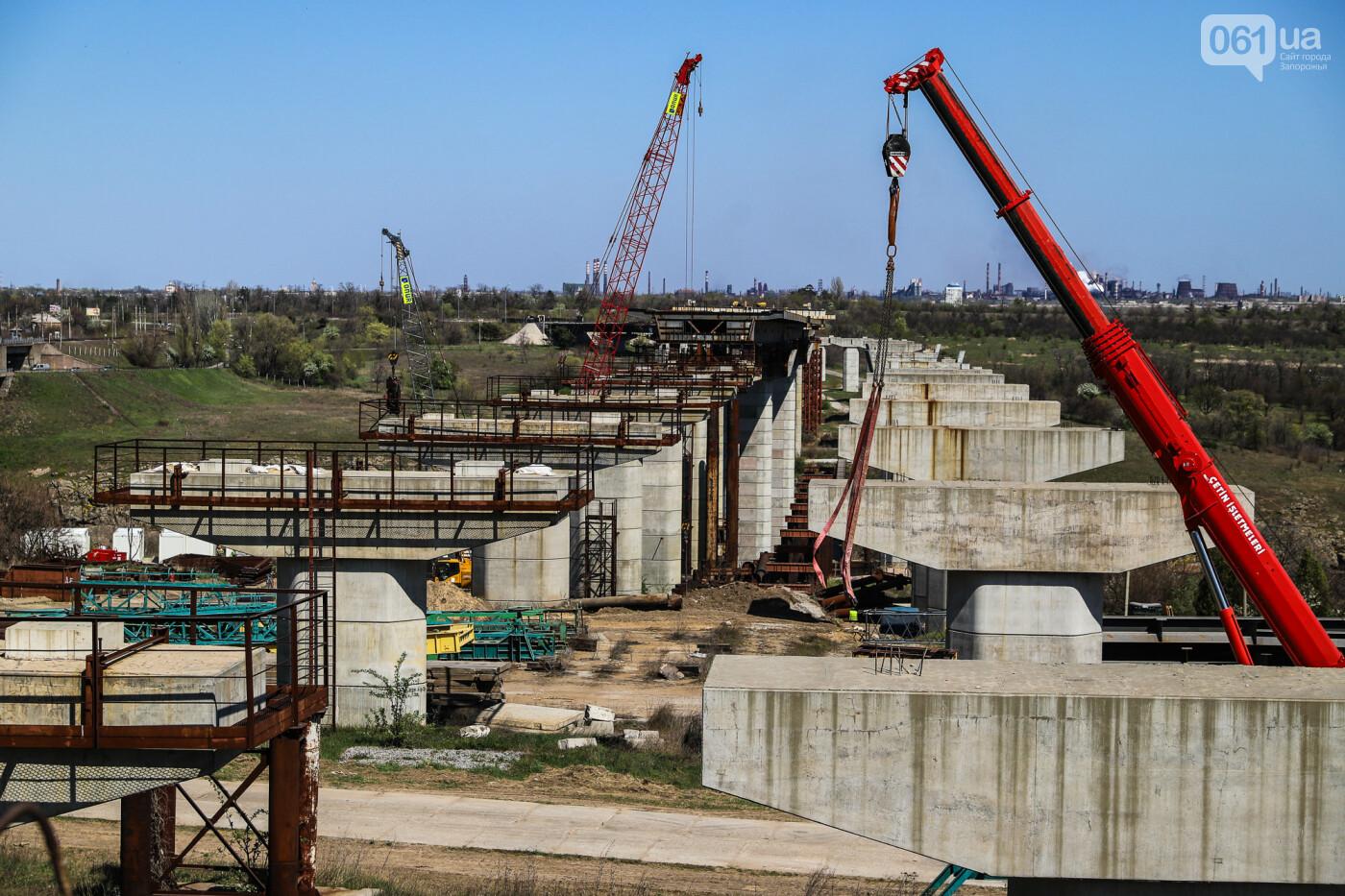 Строительство балочного моста в марте-апреле 2020