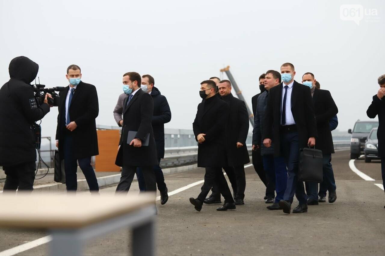 Зеленский в Запорожье проехал по новому мосту, - ФОТОРЕПОРТАЖ, фото-3