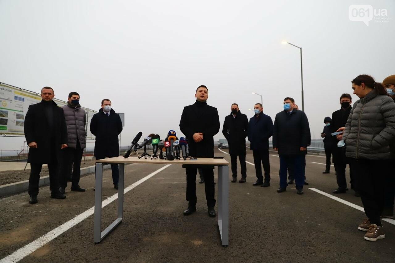 Зеленский в Запорожье проехал по новому мосту, - ФОТОРЕПОРТАЖ, фото-4