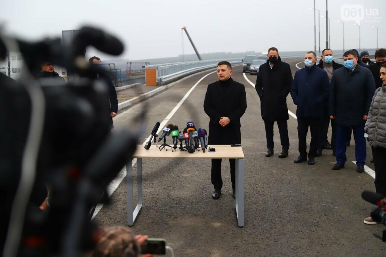Зеленский в Запорожье проехал по новому мосту, - ФОТОРЕПОРТАЖ, фото-5