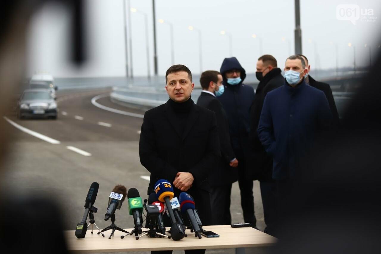 Зеленский в Запорожье проехал по новому мосту, - ФОТОРЕПОРТАЖ, фото-6