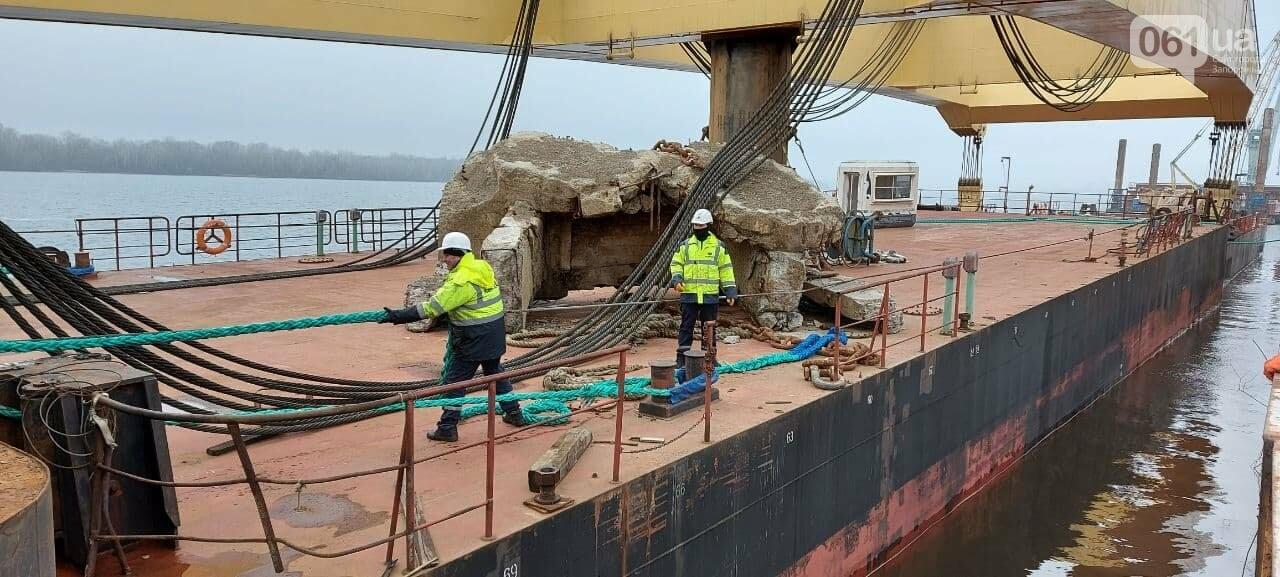 """Плавучий кран """"Захарий"""", который будет достраивать запорожские мосты, прибыл в Кривую бухту,  - ФОТОФАКТ , фото-11"""