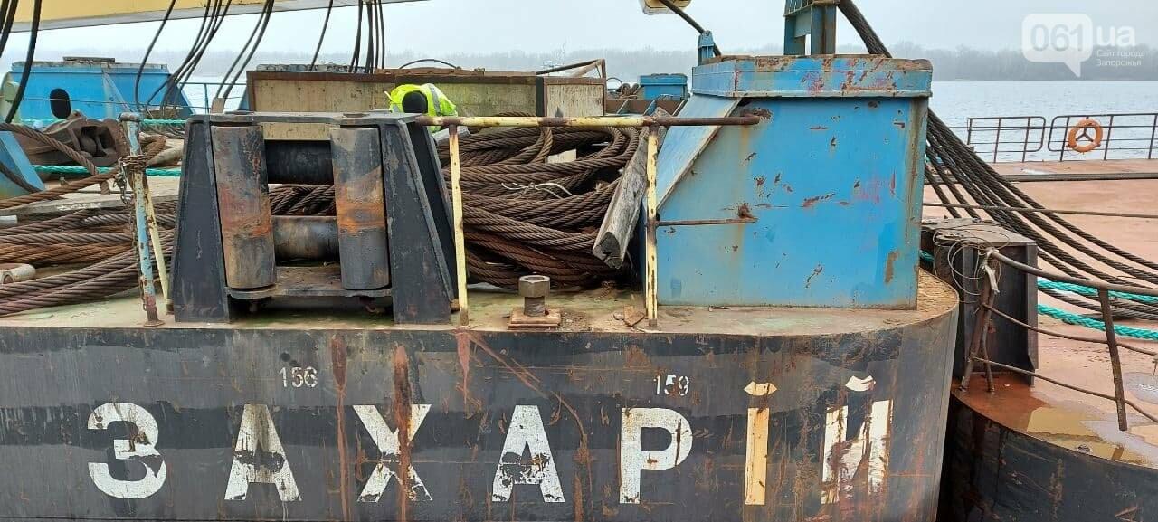 """Плавучий кран """"Захарий"""", который будет достраивать запорожские мосты, прибыл в Кривую бухту,  - ФОТОФАКТ , фото-13"""