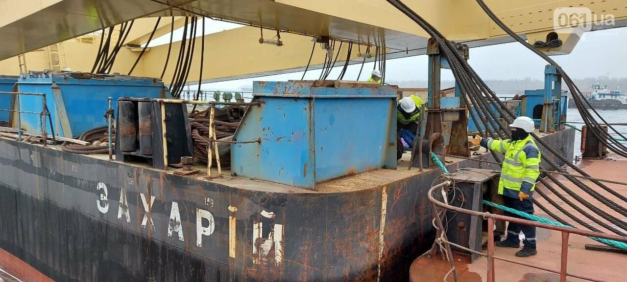 """Плавучий кран """"Захарий"""", который будет достраивать запорожские мосты, прибыл в Кривую бухту,  - ФОТОФАКТ , фото-14"""