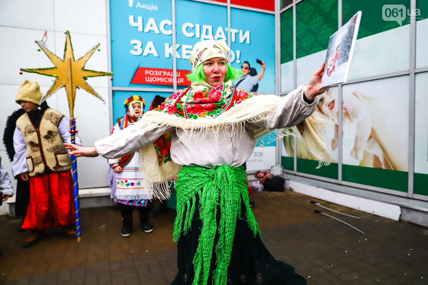 Нечистая сила против казаков: на улицах Запорожья показывали Рождественский вертеп, - ФОТО, ВИДЕО  , фото-16