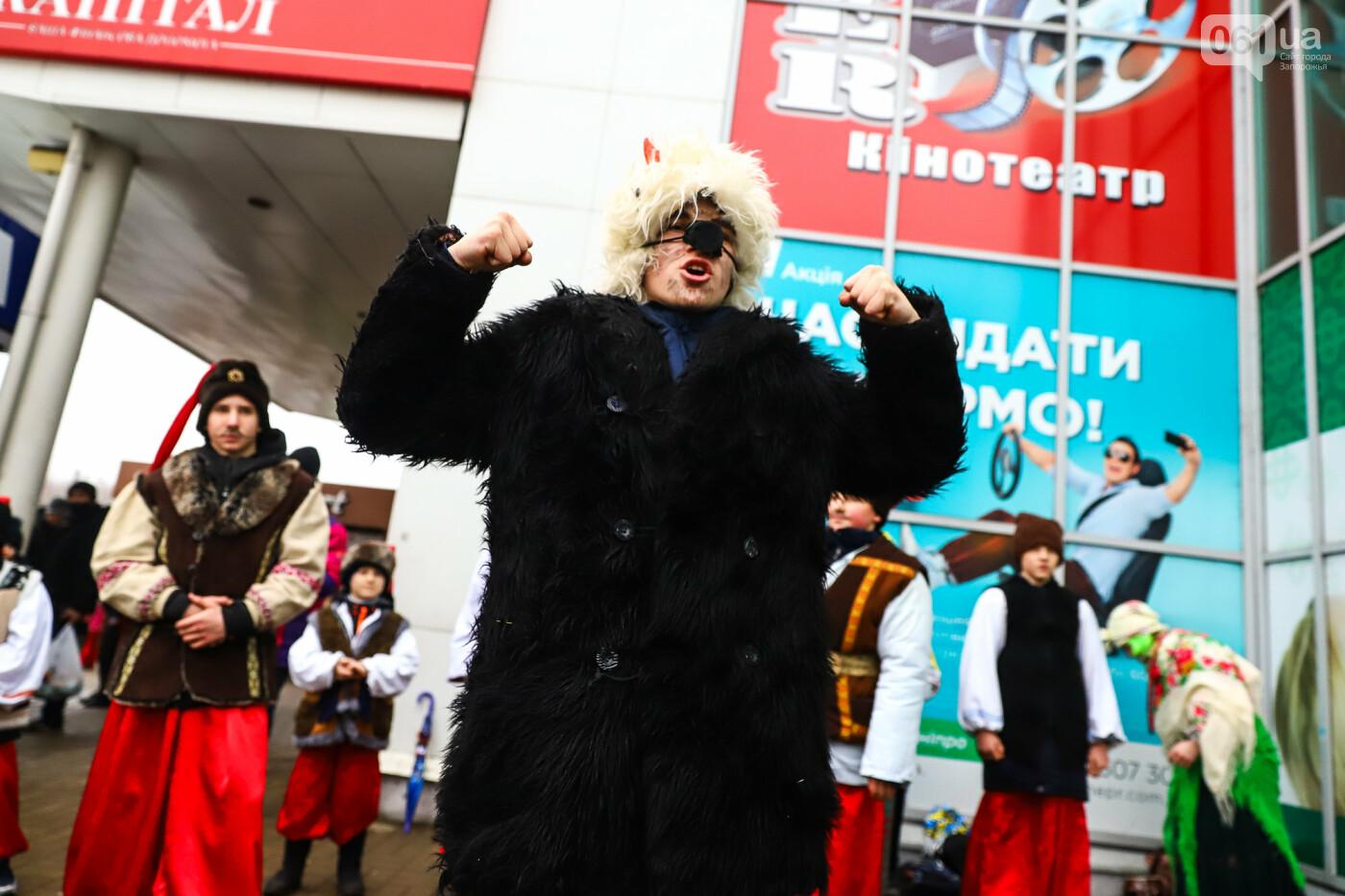 Нечистая сила против казаков: на улицах Запорожья показывали Рождественский вертеп, - ФОТО, ВИДЕО  , фото-18