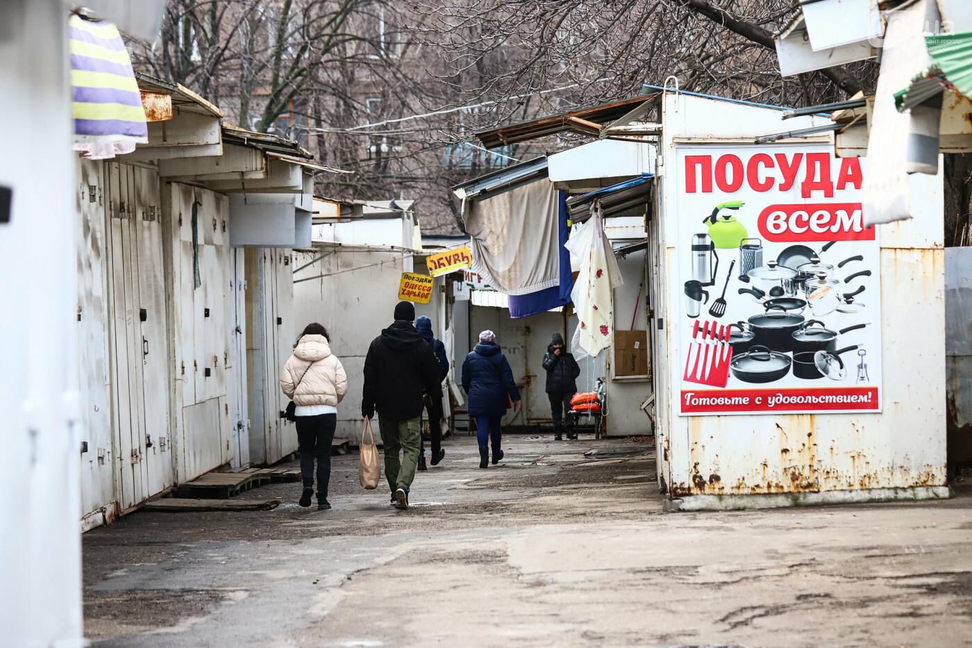 Защитные ленты на товарах, неработающие ТРЦ и полузакрытые рынки – фоторепортаж о первом дне локдауна в Запорожье, фото-6