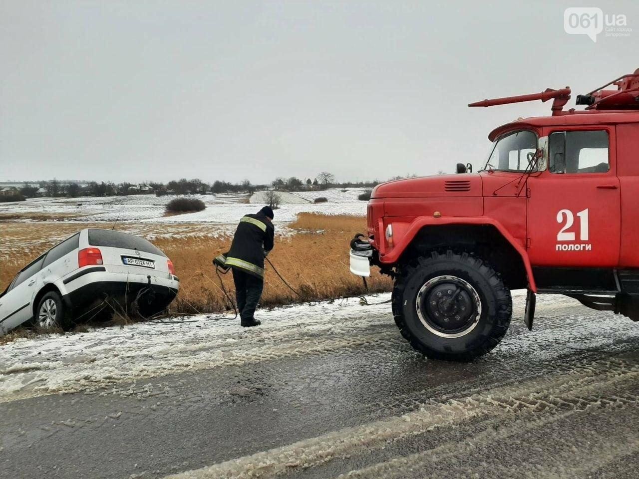 В Запорожской области Volkswagen слетел с трассы в кювет, - ФОТО, фото-2