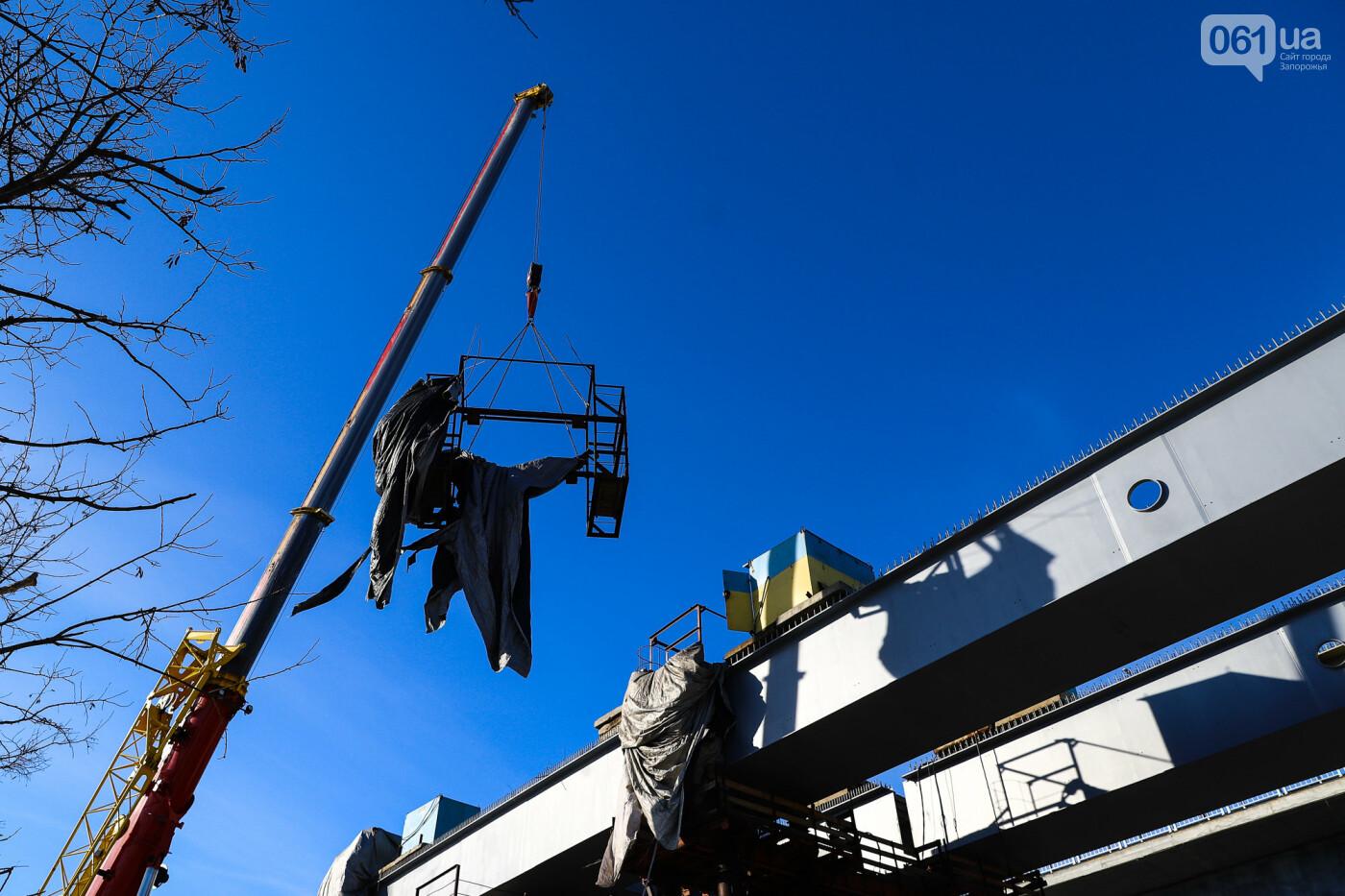 Кран с иностранной пропиской, ванты и металл: строительство запорожских мостов в фотографиях, фото-32