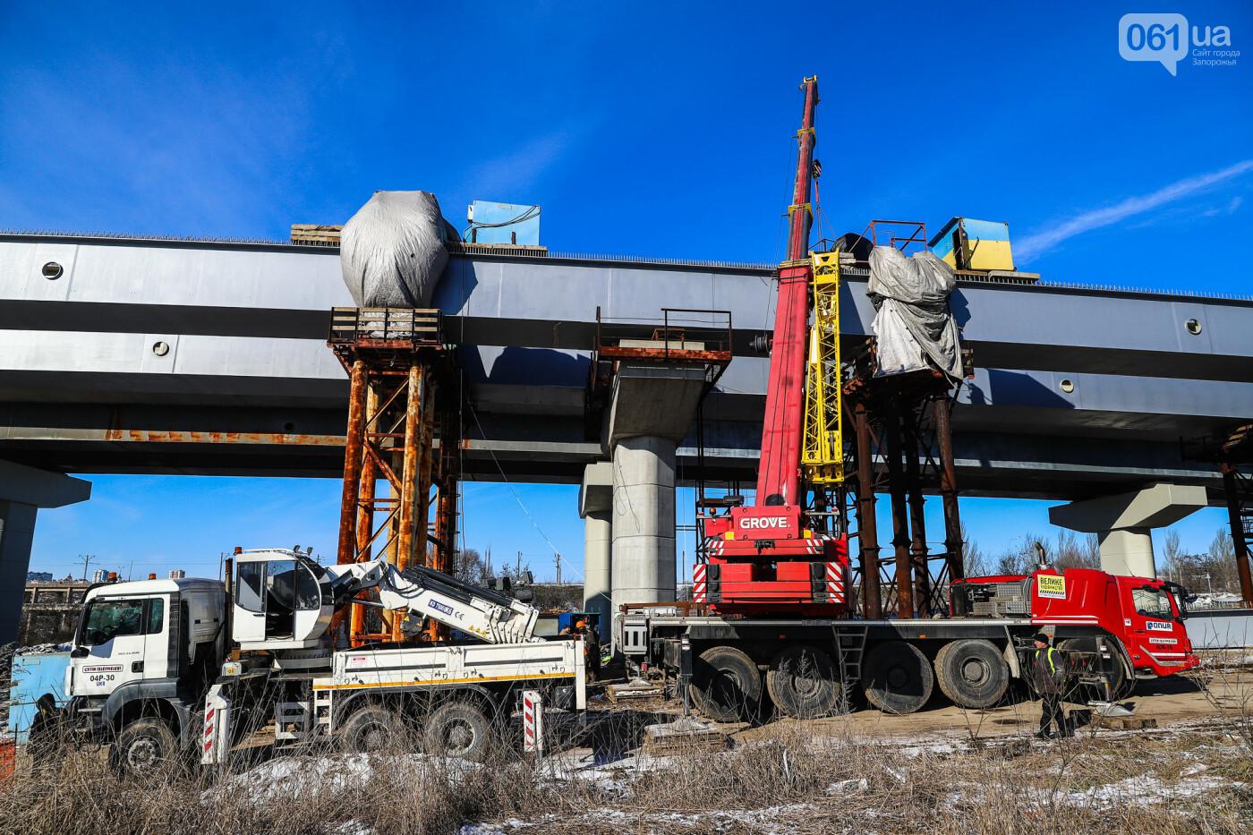 Кран с иностранной пропиской, ванты и металл: строительство запорожских мостов в фотографиях, фото-33