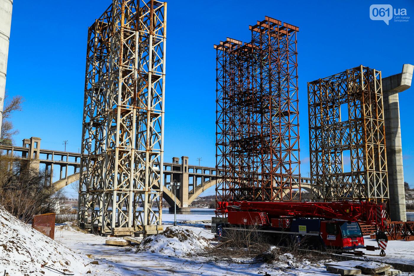 Кран с иностранной пропиской, ванты и металл: строительство запорожских мостов в фотографиях, фото-45