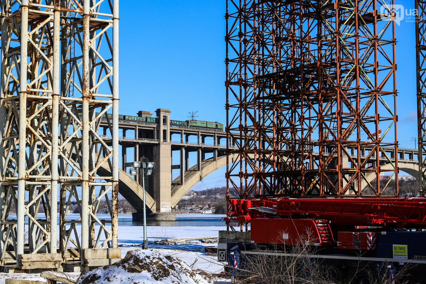 Кран с иностранной пропиской, ванты и металл: строительство запорожских мостов в фотографиях, фото-46